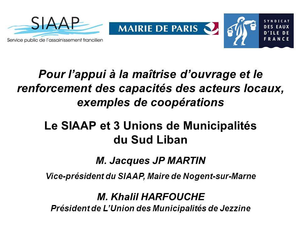 Le SIAAP et 3 Unions de Municipalités du Sud Liban