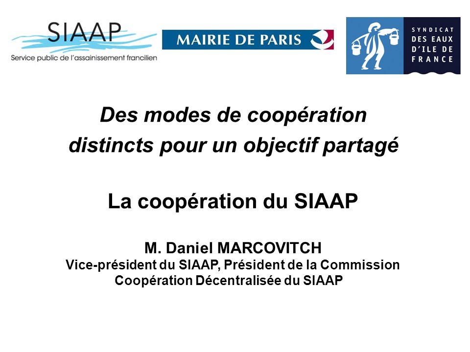 La coopération du SIAAP