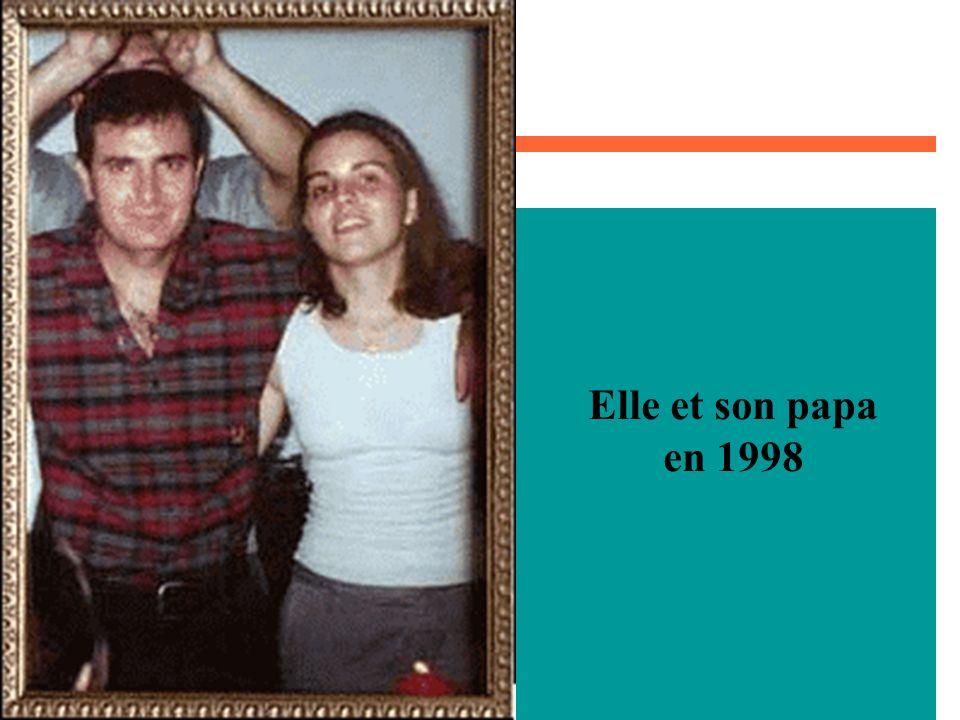 Elle et son papa en 1998