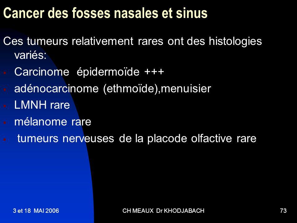 Cancer des fosses nasales et sinus