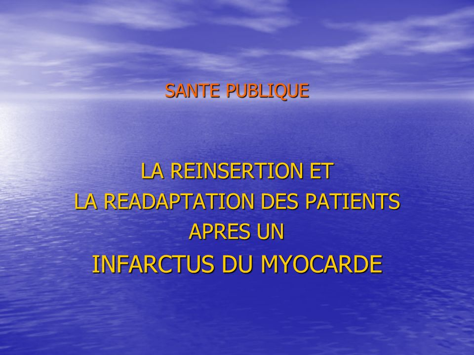 LA READAPTATION DES PATIENTS