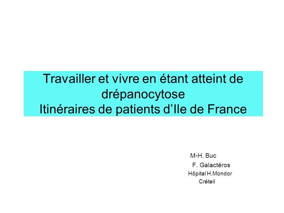 M-H. Buc F. Galactéros Hôpital H.Mondor Créteil