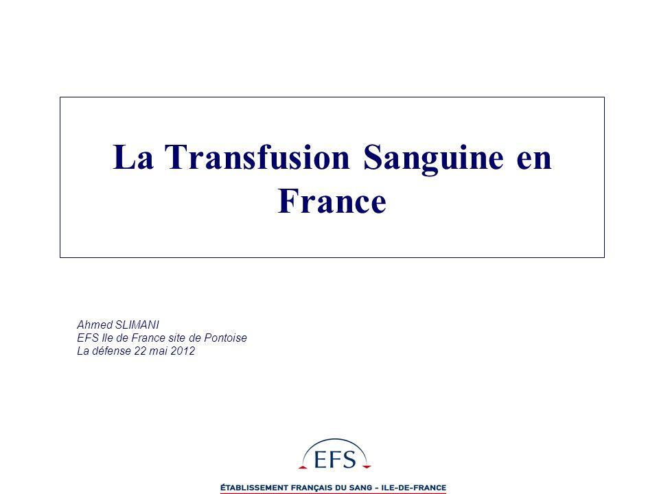La Transfusion Sanguine en France
