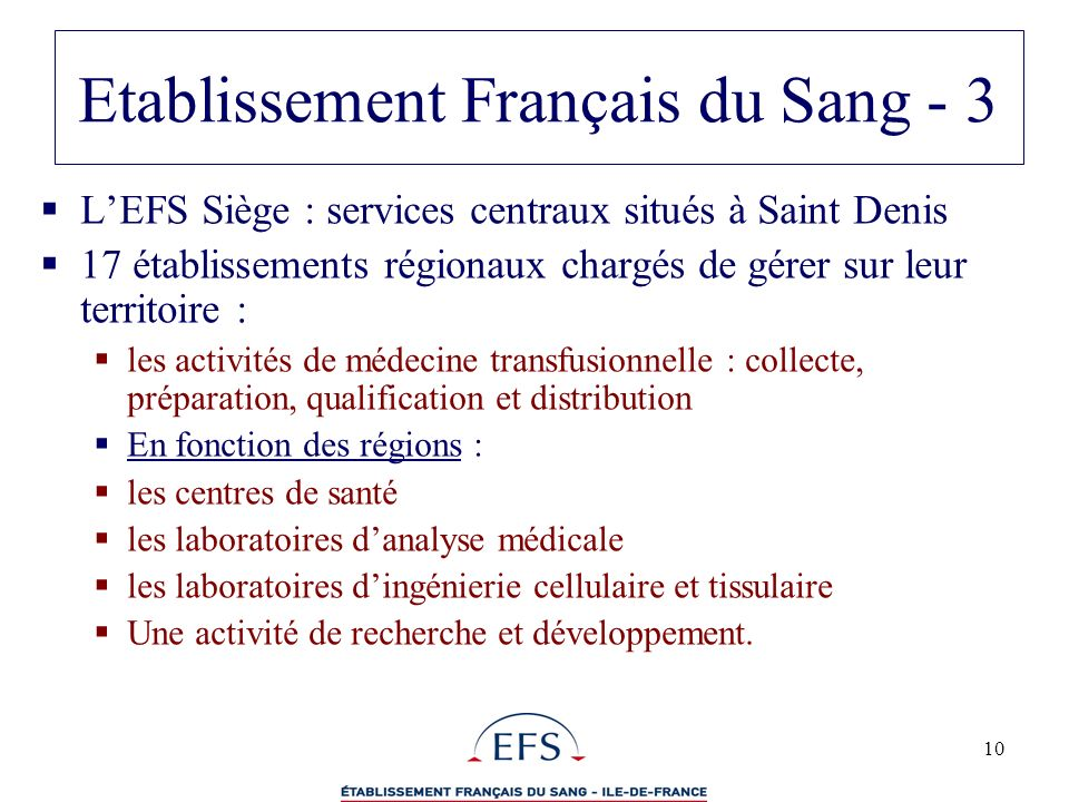 Etablissement Français du Sang - 3