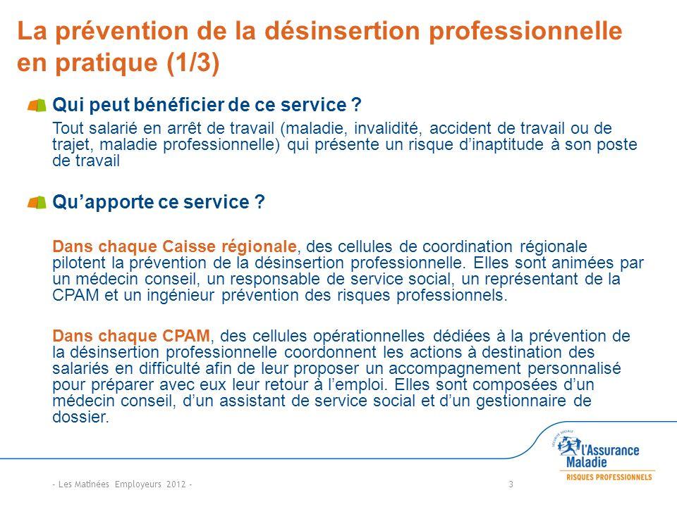La prévention de la désinsertion professionnelle en pratique (1/3)