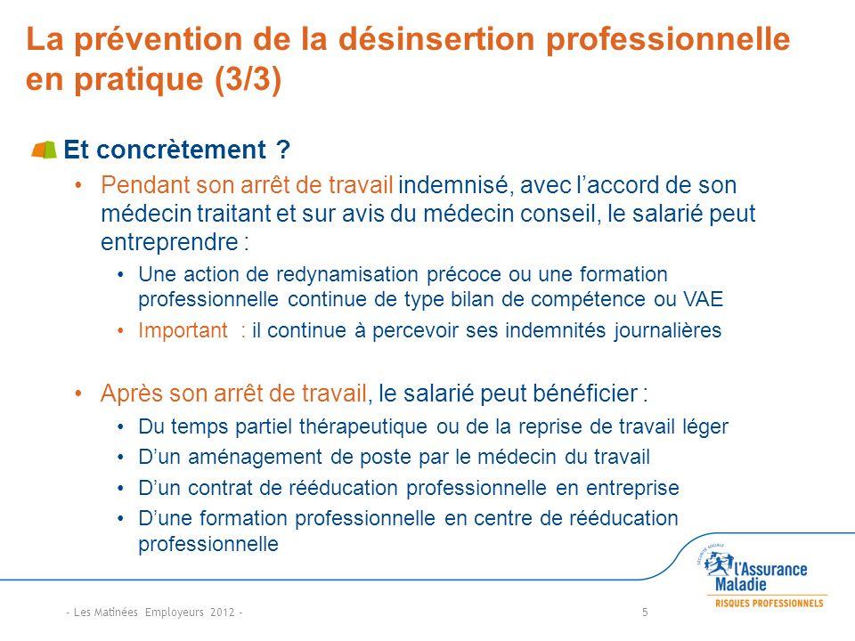 La prévention de la désinsertion professionnelle en pratique (3/3)