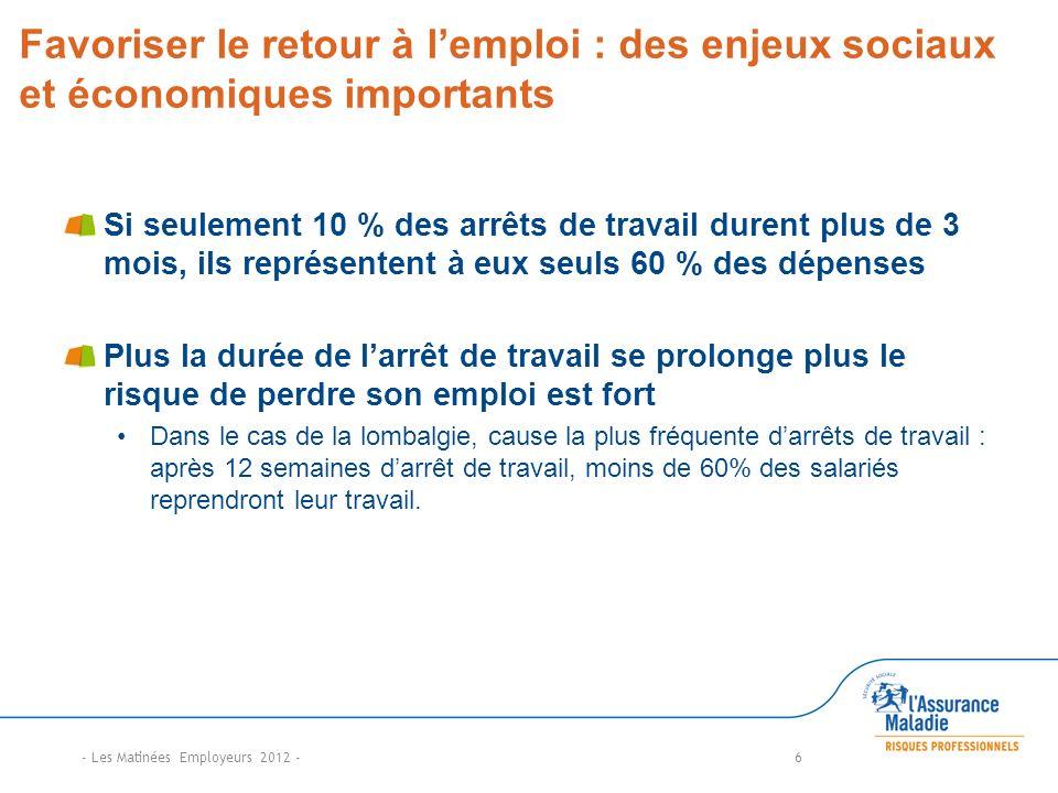 Favoriser le retour à l'emploi : des enjeux sociaux et économiques importants