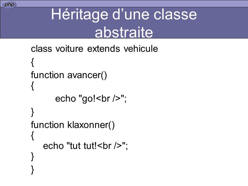Héritage d'une classe abstraite
