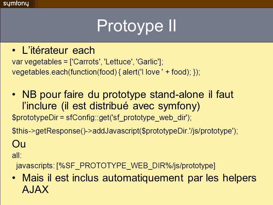 Protoype II L'itérateur each
