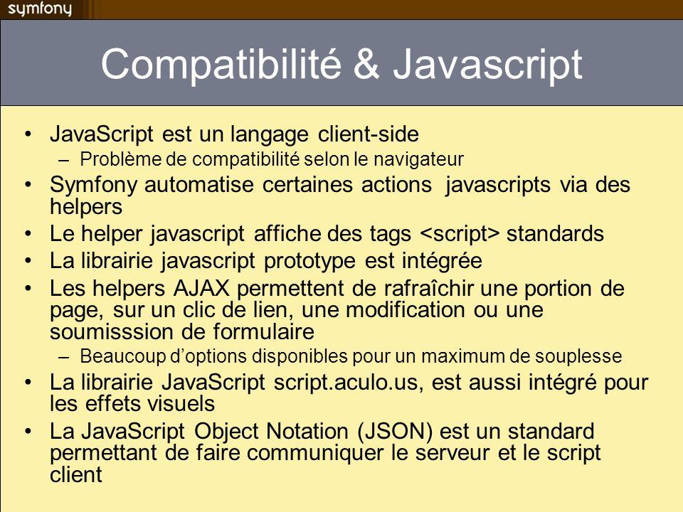 Compatibilité & Javascript