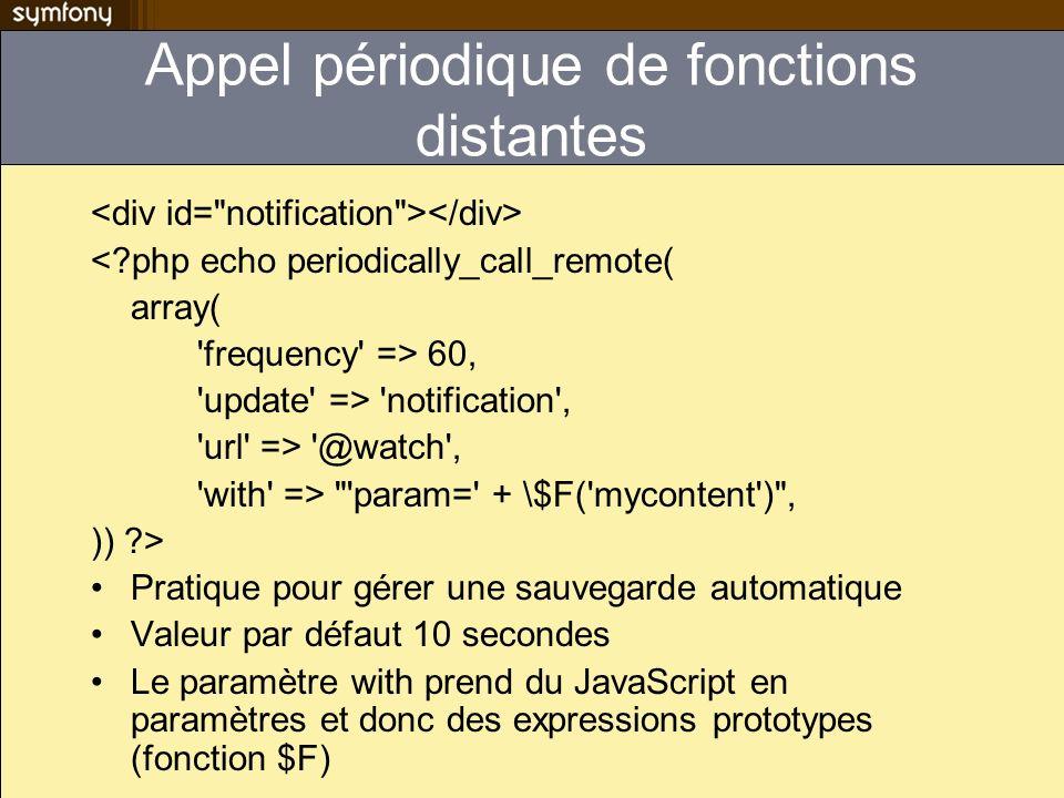 Appel périodique de fonctions distantes