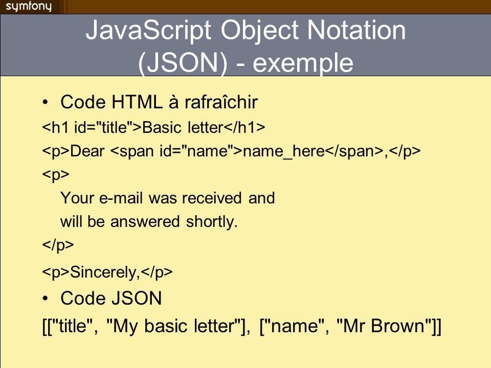 JavaScript Object Notation (JSON) - exemple