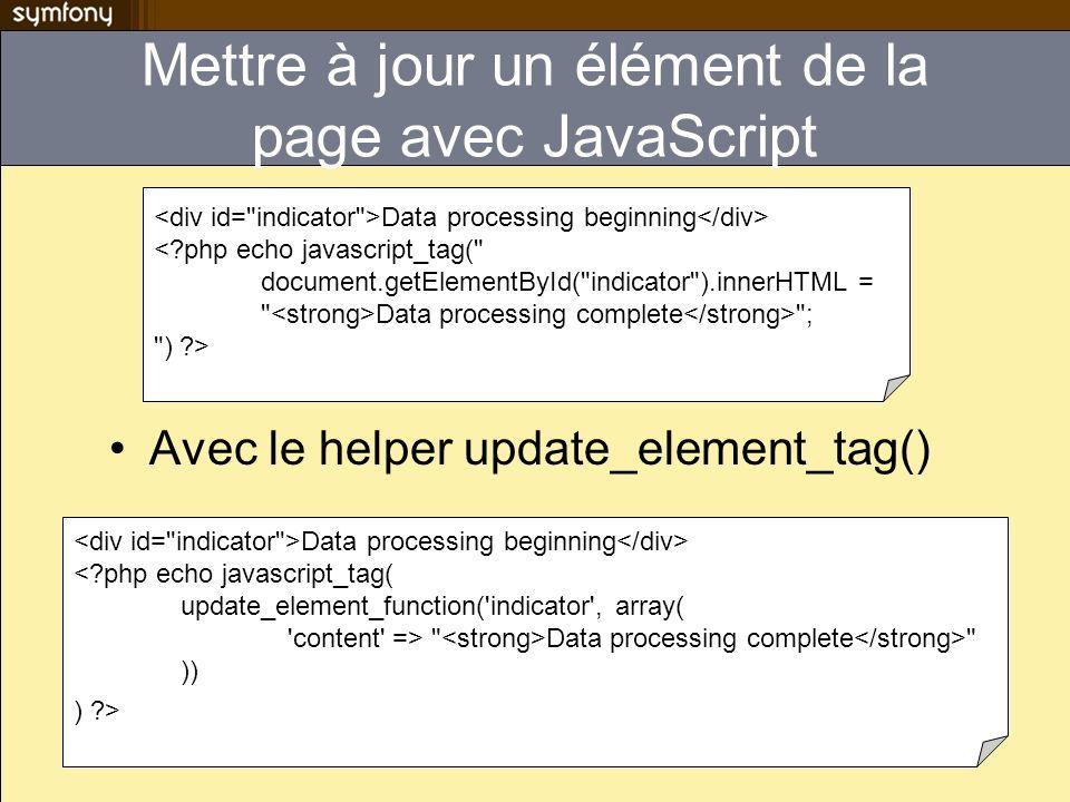 Mettre à jour un élément de la page avec JavaScript