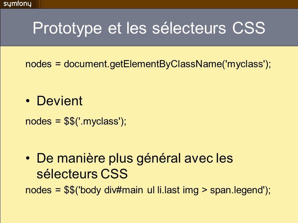 Prototype et les sélecteurs CSS