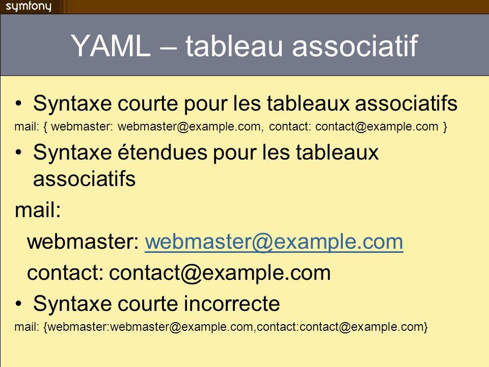 YAML – tableau associatif