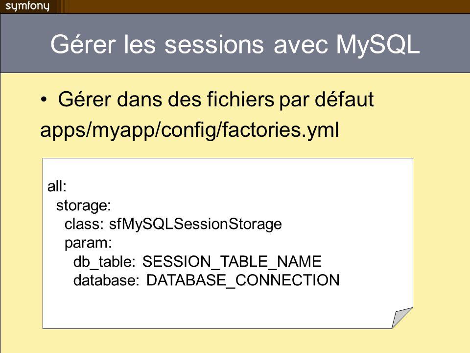 Gérer les sessions avec MySQL