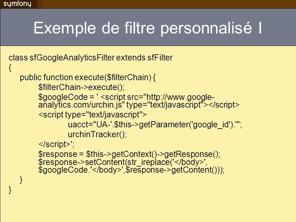 Exemple de filtre personnalisé I