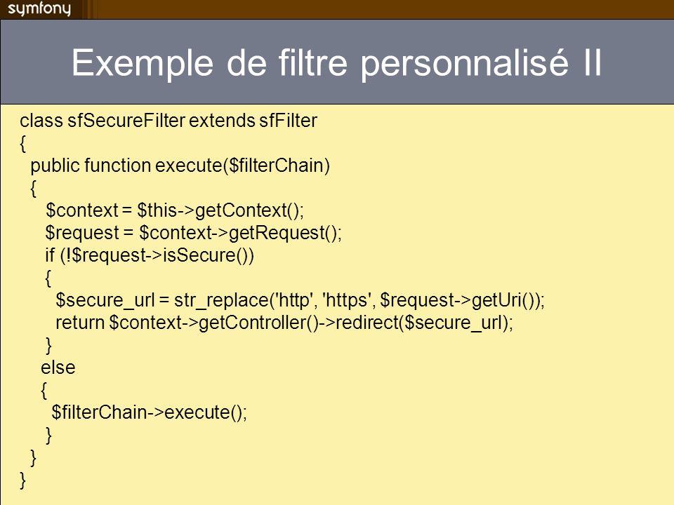 Exemple de filtre personnalisé II