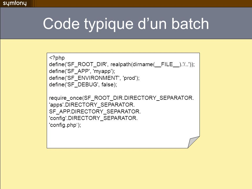 Code typique d'un batch