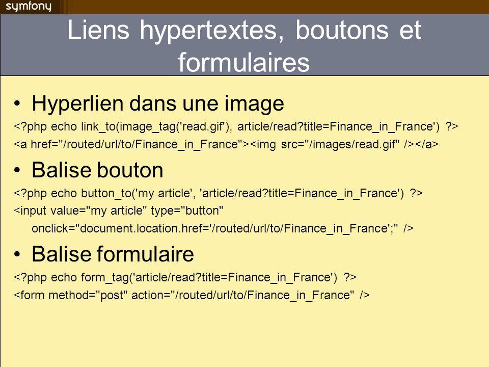 Liens hypertextes, boutons et formulaires