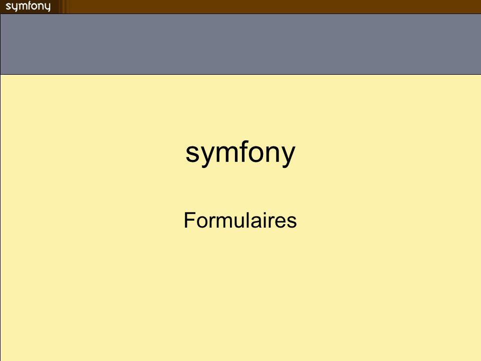 symfony Formulaires