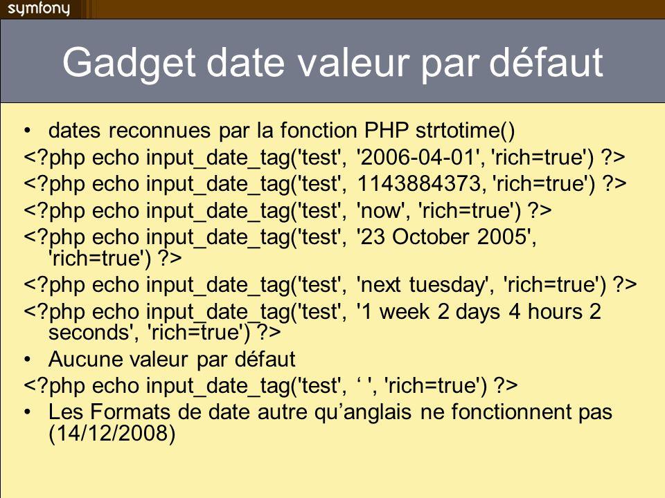 Gadget date valeur par défaut