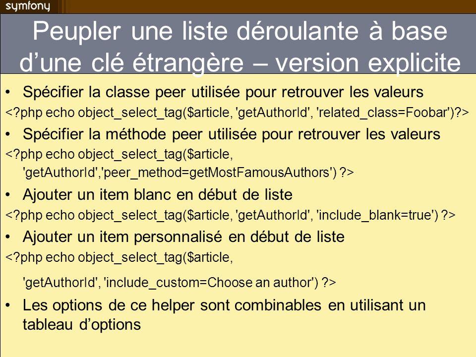 Peupler une liste déroulante à base d'une clé étrangère – version explicite