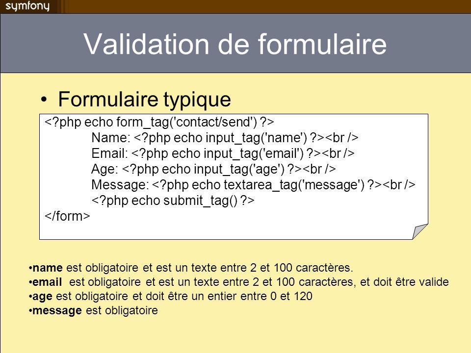 Validation de formulaire