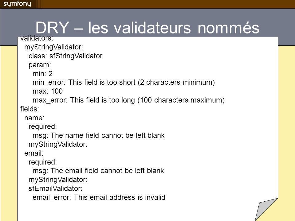 DRY – les validateurs nommés