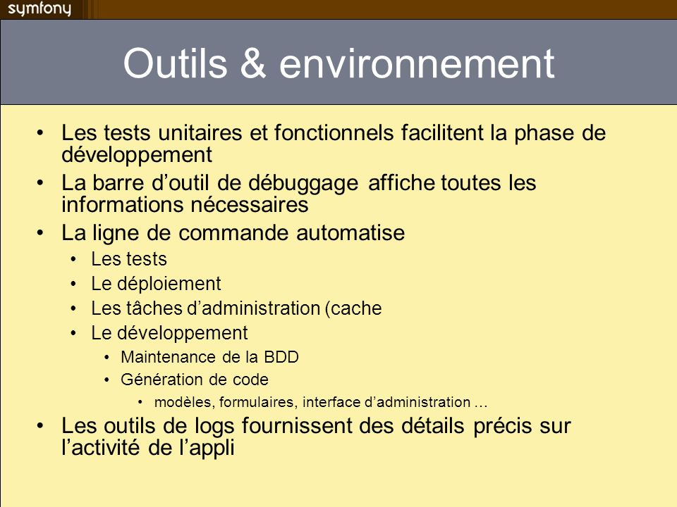 Outils & environnement