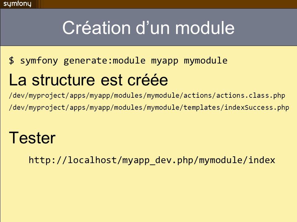 Création d'un module La structure est créée