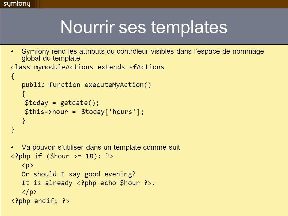 Nourrir ses templates Symfony rend les attributs du contrôleur visibles dans l'espace de nommage global du template.