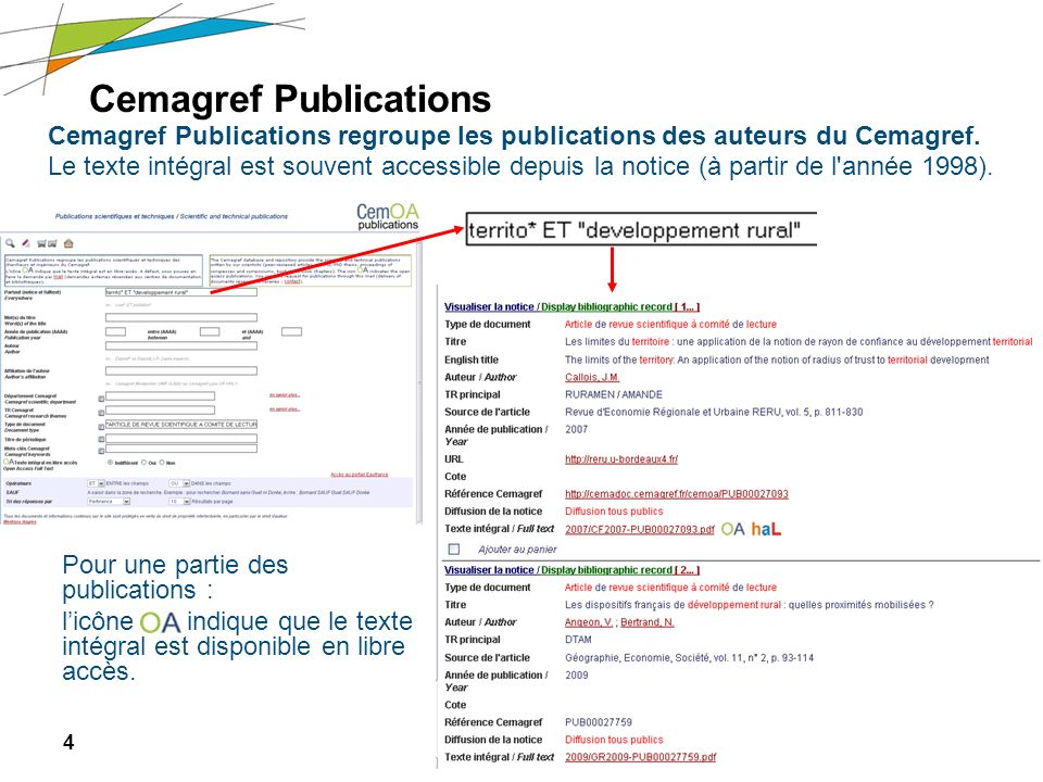 Cemagref Publications