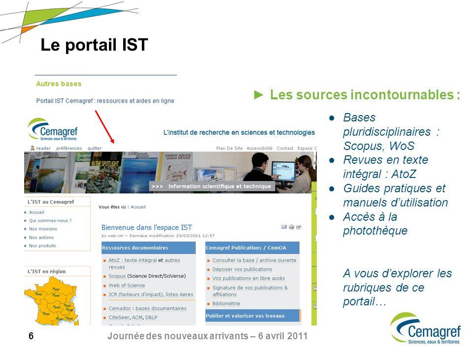 Le portail IST Les sources incontournables :