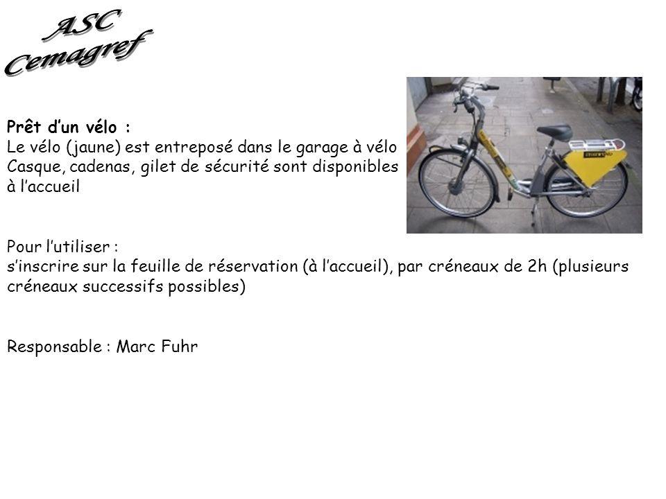 ASC Cemagref Prêt d'un vélo :