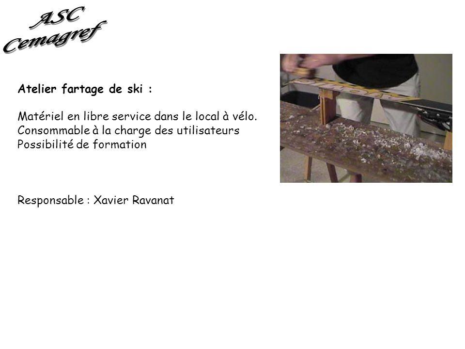 ASC Cemagref Atelier fartage de ski :