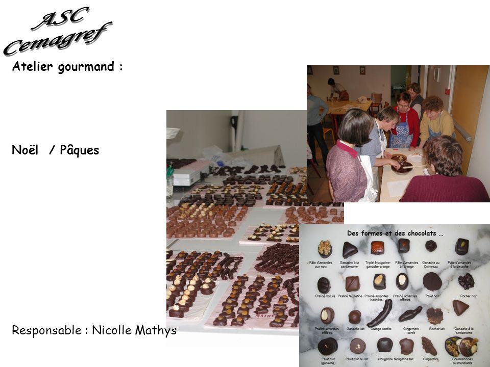 ASC Cemagref Atelier gourmand : Noël / Pâques