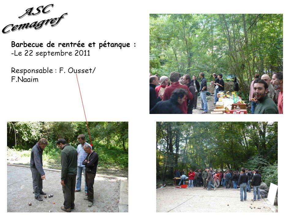 ASC Cemagref Barbecue de rentrée et pétanque : Le 22 septembre 2011