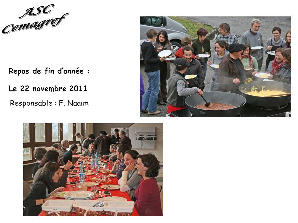 ASC Cemagref Repas de fin d'année : Le 22 novembre 2011