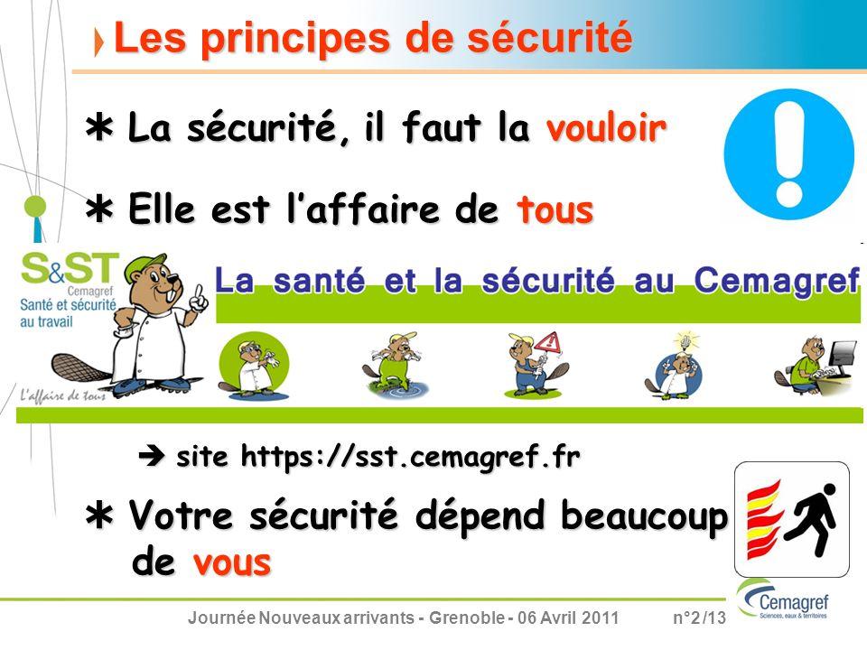 Les principes de sécurité