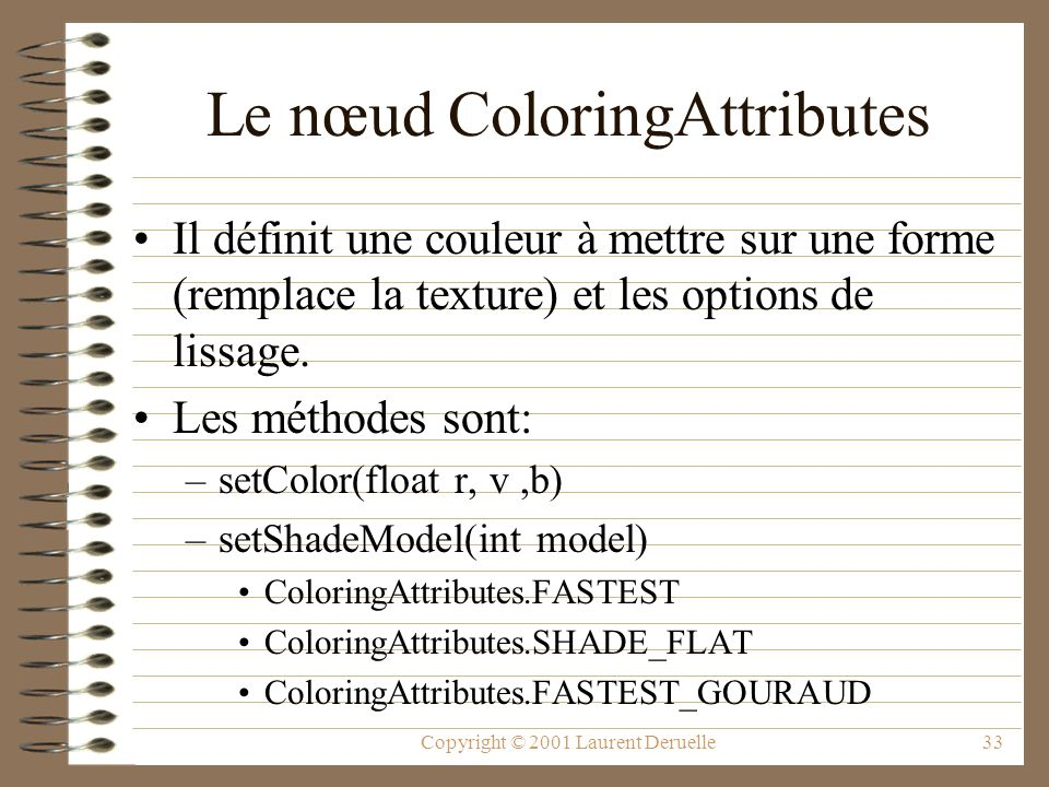 Le nœud ColoringAttributes