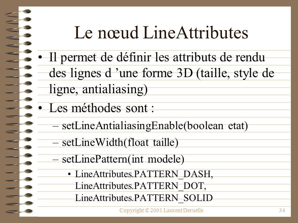 Le nœud LineAttributes
