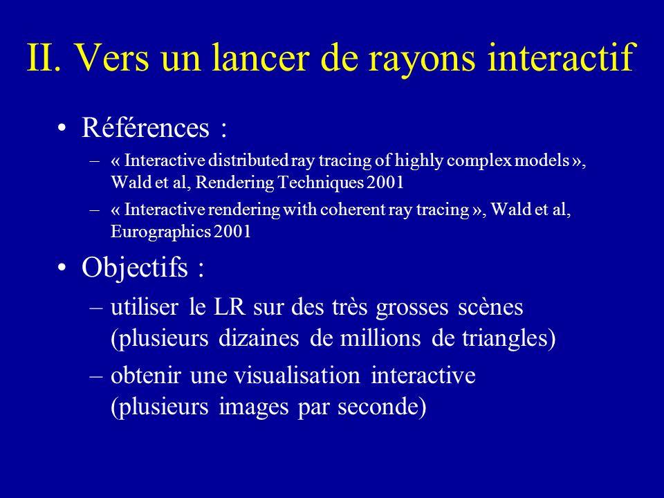 II. Vers un lancer de rayons interactif