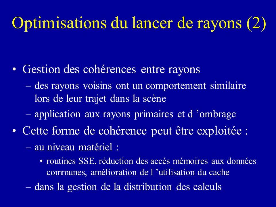 Optimisations du lancer de rayons (2)