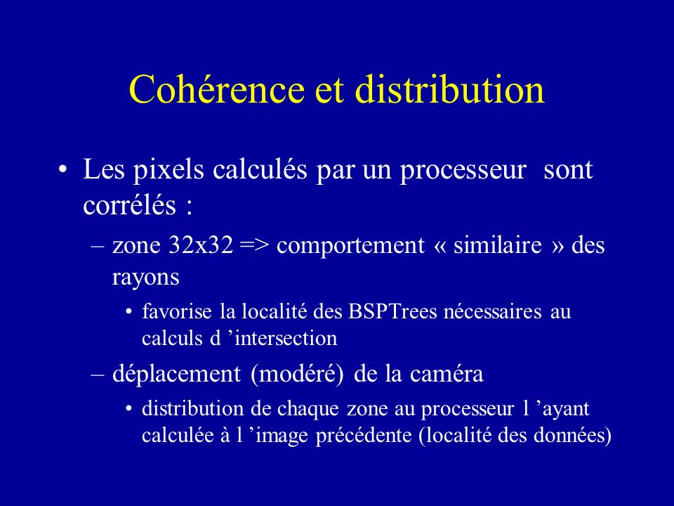 Cohérence et distribution