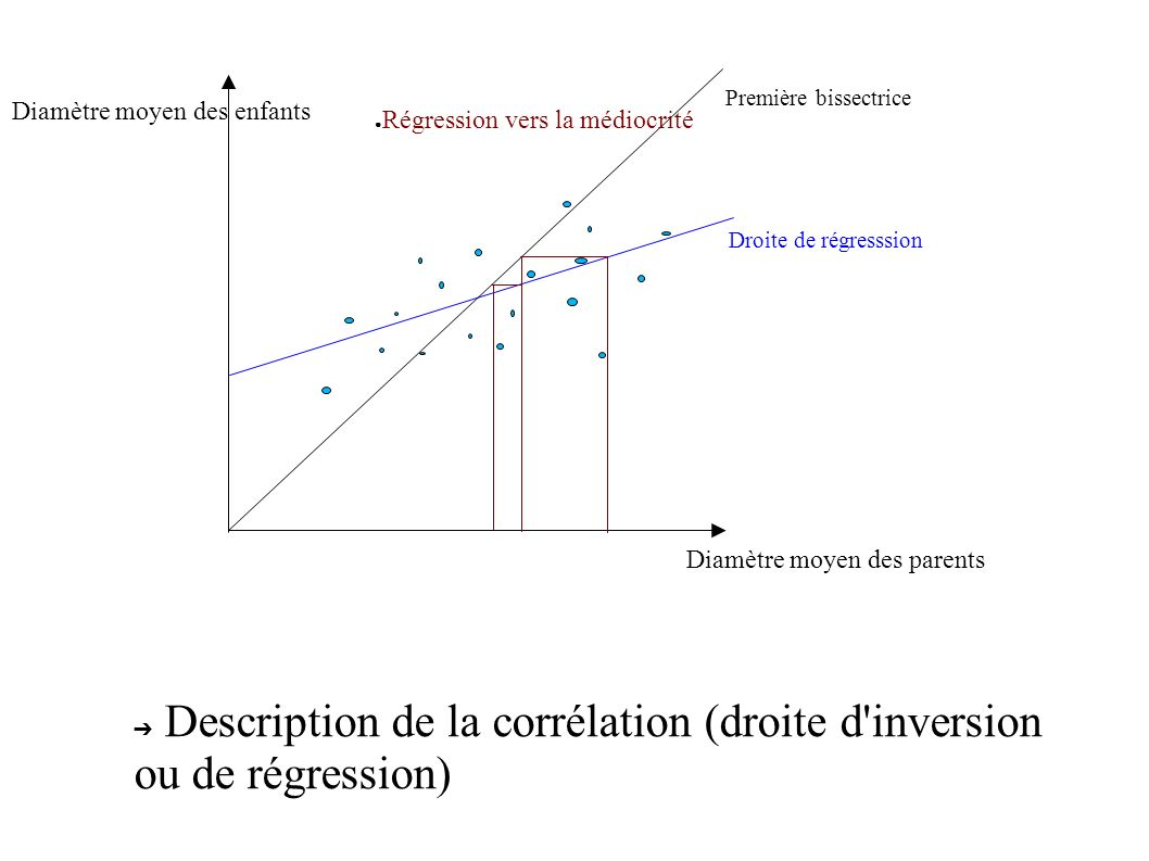 Description de la corrélation (droite d inversion ou de régression)