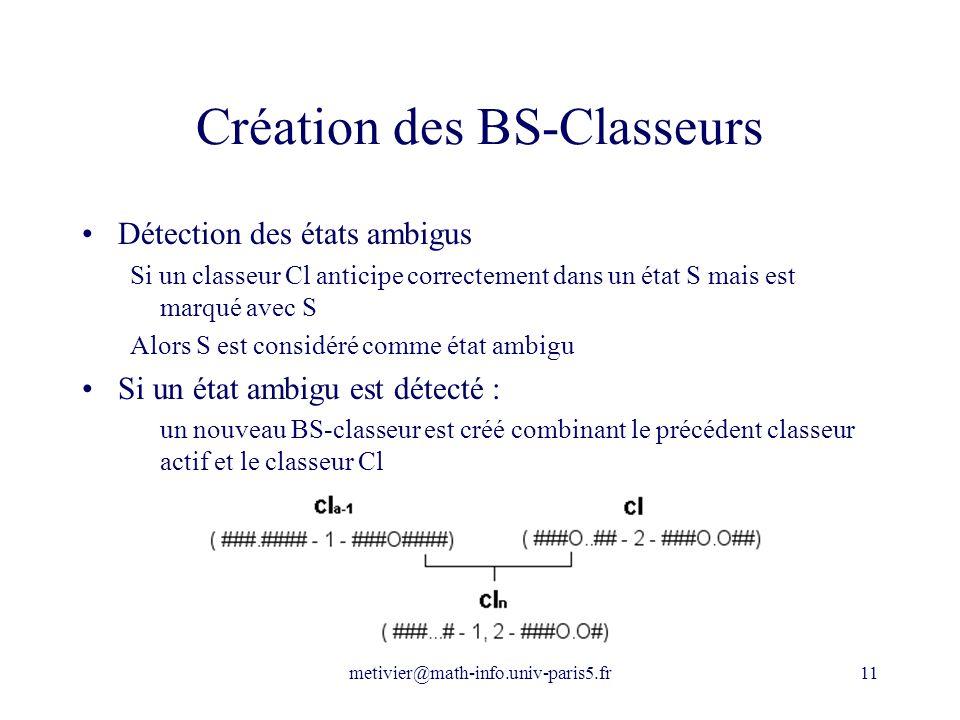 Création des BS-Classeurs