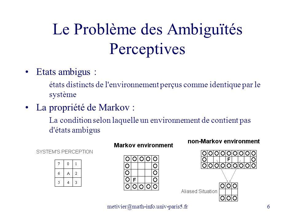 Le Problème des Ambiguïtés Perceptives