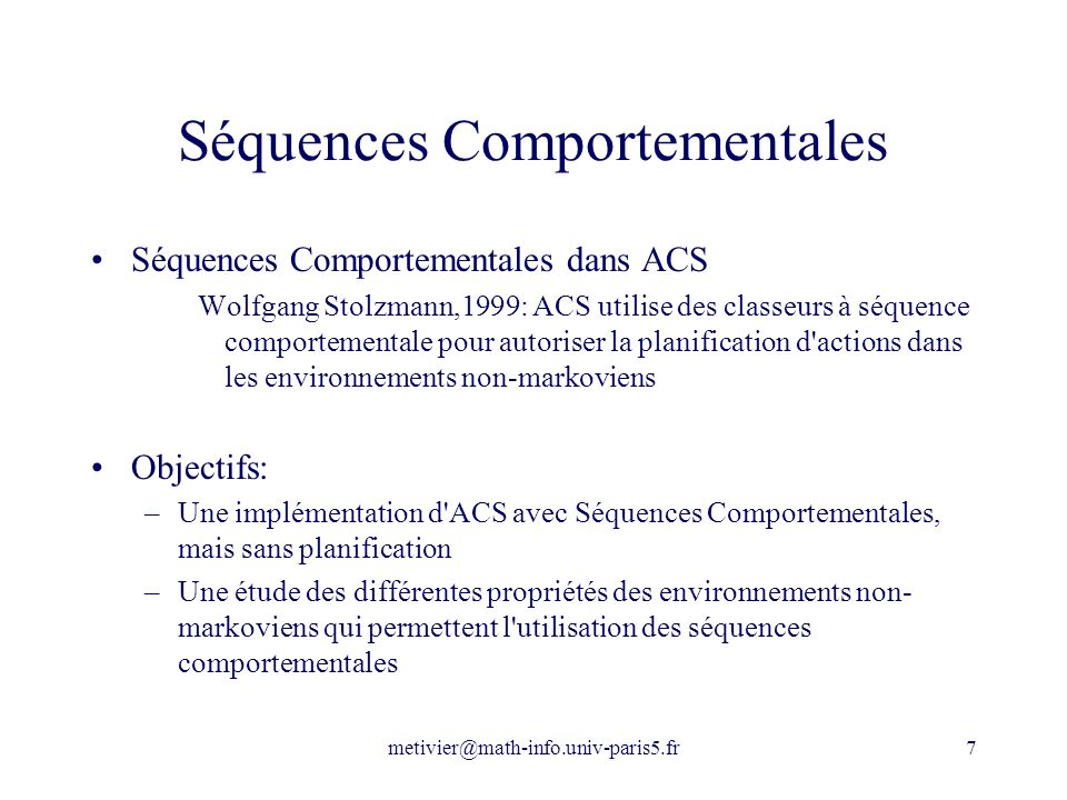 Séquences Comportementales