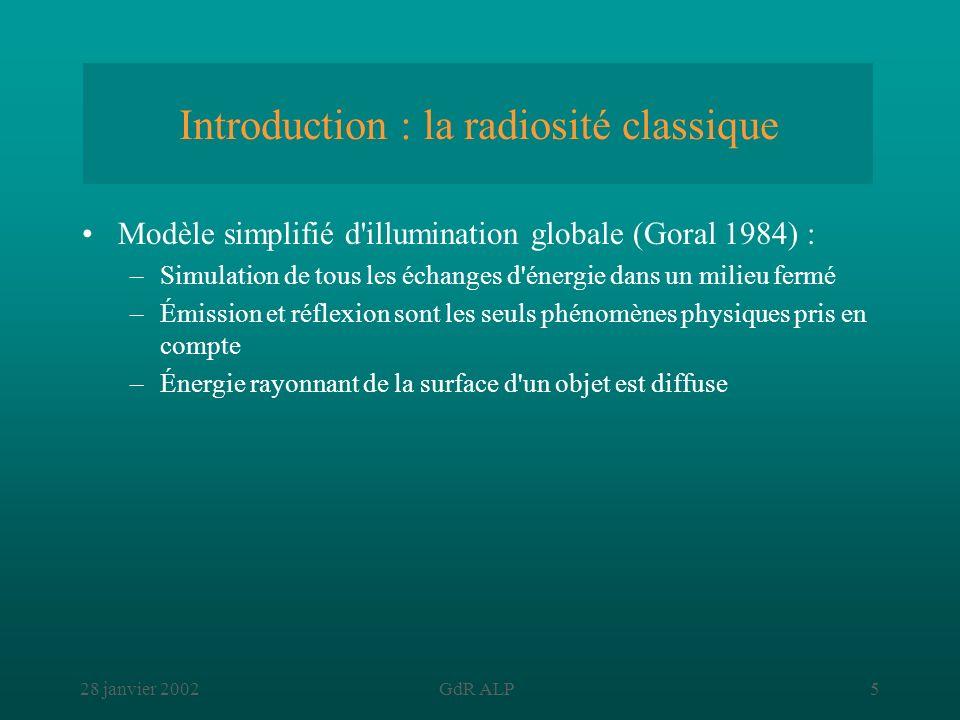 Introduction : la radiosité classique